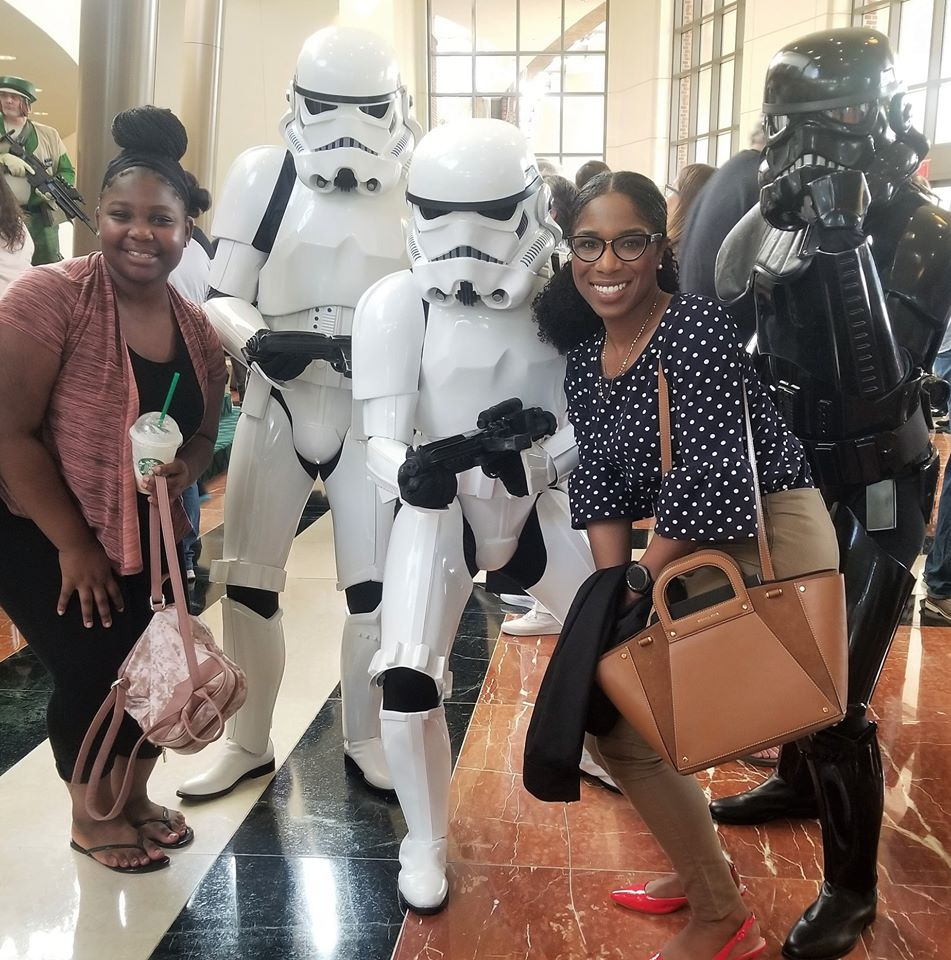 Mentor and mentee at a Star Wars event